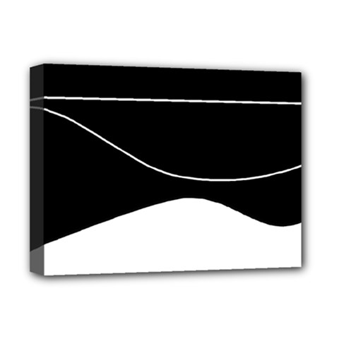 Black and white Deluxe Canvas 16  x 12