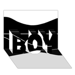 Black and white BOY 3D Greeting Card (7x5)