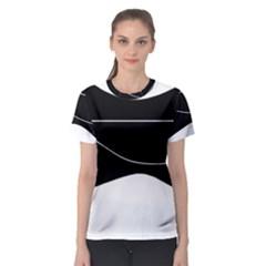 Black and white Women s Sport Mesh Tee