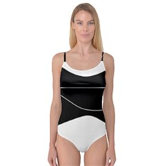 Black And White Camisole Leotard