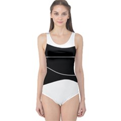 Black and white One Piece Swimsuit