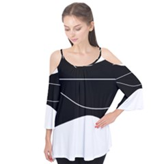 Black And White Flutter Tees
