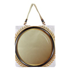 Gold Oval Badge Transparent Clip Art Grocery Tote Bag