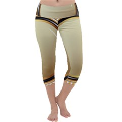Gold Oval Badge Transparent Clip Art Capri Yoga Leggings