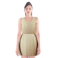 Gold Oval Badge Transparent Clip Art Scoop Neck Skater Dress