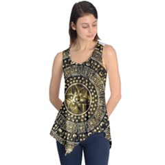 Gold Roman Shield Costume Sleeveless Tunic