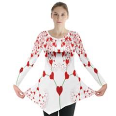 Heart Plant Fractal Tree Long Sleeve Tunic