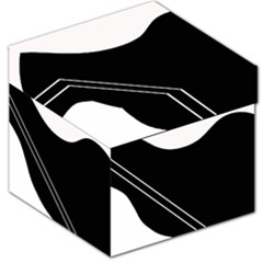 White and black abstraction Storage Stool 12