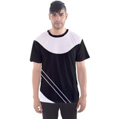 White and black abstraction Men s Sport Mesh Tee
