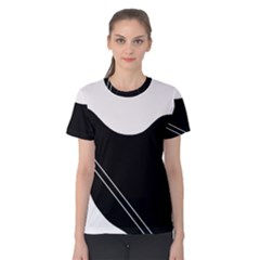 White and black abstraction Women s Cotton Tee