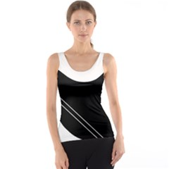 White and black abstraction Tank Top