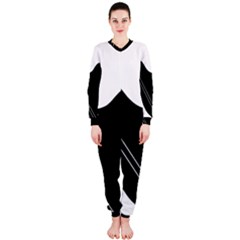 White and black abstraction OnePiece Jumpsuit (Ladies)