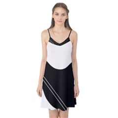 White and black abstraction Camis Nightgown