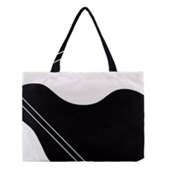 White And Black Abstraction Medium Tote Bag