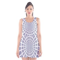 Illustration Binary Null One Figure Abstract Scoop Neck Skater Dress