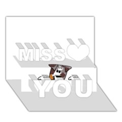CLD peeking red merle Miss You 3D Greeting Card (7x5)