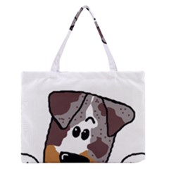 CLD peeking red merle Medium Zipper Tote Bag