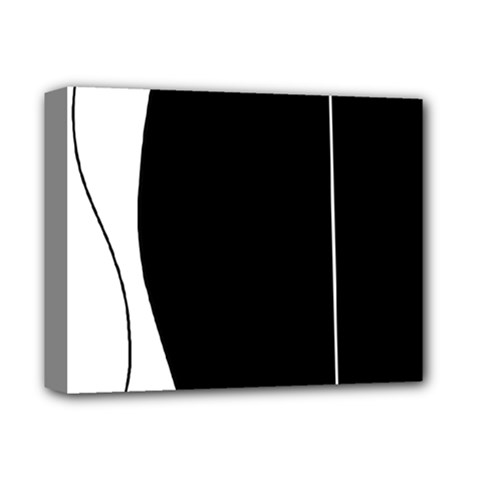 White and black 2 Deluxe Canvas 14  x 11