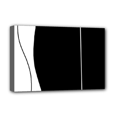 White and black 2 Deluxe Canvas 18  x 12