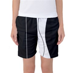 White and black 2 Women s Basketball Shorts