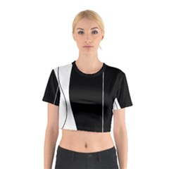 White and black 2 Cotton Crop Top