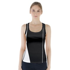 White and black 2 Racer Back Sports Top