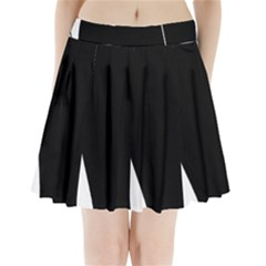 White and black 2 Pleated Mini Skirt