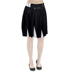 White And Black 2 Pleated Skirt