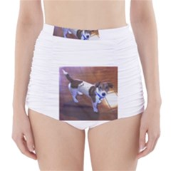 Jack Russell Terrier Full second High-Waisted Bikini Bottoms