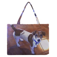 Jack Russell Terrier Full second Medium Zipper Tote Bag