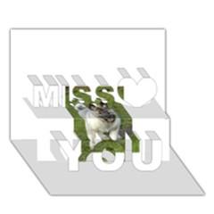 Norwegian Elkhound Puppy Miss You 3D Greeting Card (7x5)