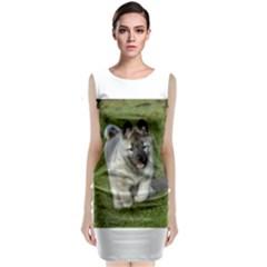 Norwegian Elkhound Puppy Classic Sleeveless Midi Dress