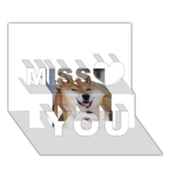 Shiba Inu Miss You 3D Greeting Card (7x5)