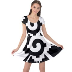 Maya Calendar Native American Religion Cap Sleeve Dresses