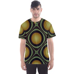 Abstract Background Design Men s Sport Mesh Tee