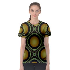 Abstract Background Design Women s Sport Mesh Tee