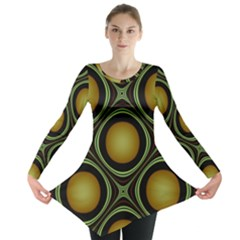Abstract Background Design Long Sleeve Tunic