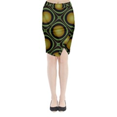 Abstract Background Design Midi Wrap Pencil Skirt