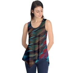 Abstract Background Lines Art Sleeveless Tunic