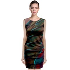 Abstract Background Lines Art Classic Sleeveless Midi Dress