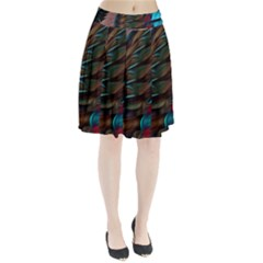 Abstract Background Lines Art Pleated Skirt