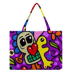Abstract Background Pattern Design Medium Tote Bag