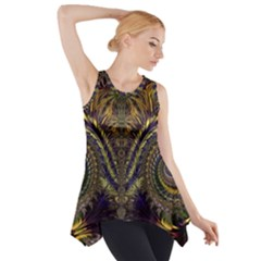Abstract Fractal Pattern Side Drop Tank Tunic