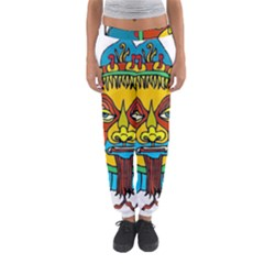 Abstract Mask Figure Traditional Women s Jogger Sweatpants