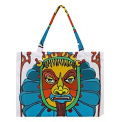 Abstract Mask Figure Traditional Medium Tote Bag