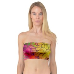 Abstract Squares Triangle Polygon Bandeau Top