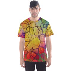 Abstract Squares Triangle Polygon Men s Sport Mesh Tee