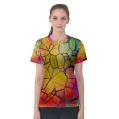 Abstract Squares Triangle Polygon Women s Sport Mesh Tee