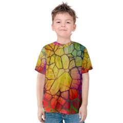 Abstract Squares Triangle Polygon Kids  Cotton Tee