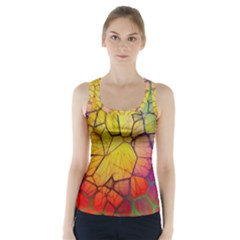 Abstract Squares Triangle Polygon Racer Back Sports Top